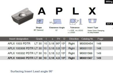 Destička APLX 100332 PDTR LT 30 LAMINA(7869119)