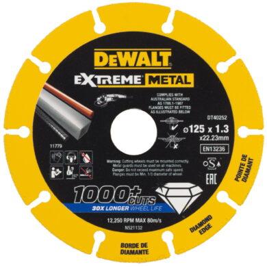 DEWALT DT40252 Kotouč diamantový řezný na kov 125x1,3x22,23mm(7913753)