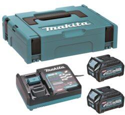 MAKITA 191J81-6 Set akumulátorů 40V 2x2,5Ah XGT BL4025 + DC40RA-Set akumulátorů 40V 2x2,5Ah s rychlonabíječkou v systaineru