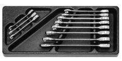 EXPERT E194938 Modul s nářadím 12dílný sada ráčnových klíčů M11R-Tona Expert E194938T - 12dílná sada ráčnových očkoplochých klíčů