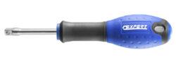 """EXPERT E113910 Nástavec s rukojetí 1/4"""" L150mm-Šroubovák na nástrčné hlavice ořechy 1/4, 150mm, bi-plastová rukojeť"""