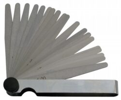 KMITEX 1133 Měrka ventilová 1-2mm 200 DIN2275 ČSN251670-Sada měrek na ventily 1,00-2,0x200mm, 11-dílná, DIN 2275, ČSN 251670