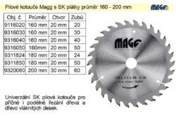 MAGG 9316040 Pilový kotouč HOBBY SK 160x2,6x20 40z