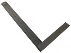 KMITEX 4029.1 Úhelník tesařský 750x375 se stupnicí-Úhelník tesařský s mm dělením