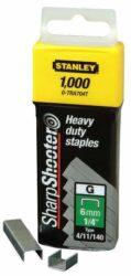 STANLEY 1-TRA704T Spony HD balení 1000ks 6mm typ G-HD sponky typ G 4/11/140