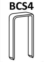 BOSTITCH 1165001Z Spony BCS4-50mm pozink 10000ks do 650S4-Spony Bostitch BCS4, délka 50 mm