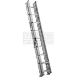 ELKOP 109462 Žebřík výsuvný VHR H 2x9 příček 4030mm-Dvoudílný hliníkový víceúčelový HOBBY žebřík