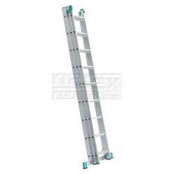ELKOP 109451 Žebřík výsuvný VHR H 3x8 příček 4810mm-Trojdílný hliníkový víceúčelový HOBBY žebřík