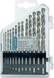 NAREX 00763355 Sada vrtáků do kovu vybrušovaných 13dílná-PVC pouzdro s vrtáky CZ002, 13dílů  1.5, 2, 2.5, 3, 3.3, 3.5, 4, 4.2, 4.5, 5, 5.5, 6, 6.5mm