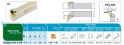 Nůž PCLNR 1616 H 12 C AKKO-Soustružnický držák VBD PCLNR 1616 H 12