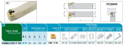 Nůž PCBNR 3232 P 12C AKKO-Soustružnický držák VBD PCBNR 3232 P 12 C