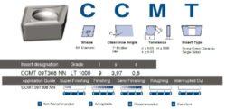 Destička CCMT 09T308 NN LT 1000 LAMINA