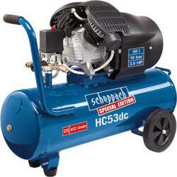 SCHEPPACH HC 53 DC Kompresor olejový 50L 2200W 412L/min 10bar-HC 53 DC dvouválcový olejový kompresor 10 barů se vzdušníkem 50 l