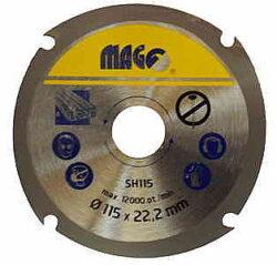 MAGG SH115 Kotouč na dřevo pro úhlové brusky 115mm-Řezný kotouč na dřevo do úhlové brusky