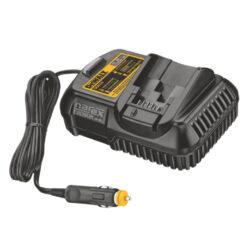 DEWALT DCB119-XJ Nabíječka do autozásuvky 10,8V - 18V-Nabíječka do automobilů pro baterie XR Li-Ion 10,8 V, 14,4 V a 18 V