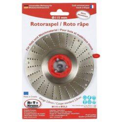 MAGG ROTO11520 Rotační rašple střední 115x22,2x2,0mm pro úhlové brusky- Rotační rašple střední 115x22,2x2,0mm pro úhlové brusky