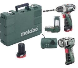 METABO 600080530 PowerMaxx BS Basic Akušroubovák 10,8V 2,0Ah set-Akumulátorový vrtací šroubovák 10,8V