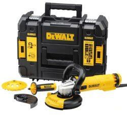 DEWALT DWE4217KT-QS Bruska úhlová 125mm 1200W set sanace-Bruska úhlová 125mm 1200W set sanace