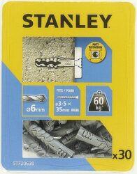 Hmoždinka do betonu nylon 6x30mm SET30 STANLEY STF20630-XJ