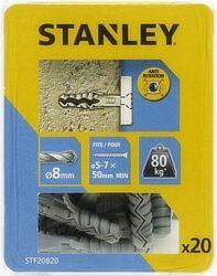 Hmoždinka do betonu nylon 8x40mm SET20 STANLEY STF20820-XJ