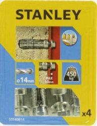 Kotva štítová rozpínací se šroubem 14x50mm SET4 STANLEY STF40814-XJ