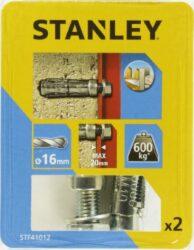 Kotva štítová rozpínací se šroubem 16x60mm SET2 STANLEY STF41012-XJ