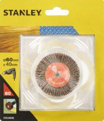 STANLEY STA34051 Lamelové brusné tělísko do vrtačky D80x20mm S6mm P80-Lamelové brusné tělísko do vrtačky D80x20mm S6mm P80