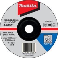 MAKITA A-84981 Kotouč brusný 150x6 na ocel-Kotouč brusný 150x6 na ocel