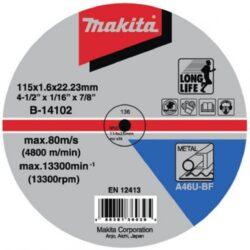 Kotouč řezný kov 115X1,6X22,23 MAKITA B-14102