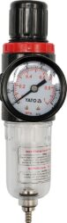 """YATO YT-2382 Regulátor tlaku s filtrem 1/4""""  0,93MPa (15ccm)-Regulátor tlaku s filtrem 1/4  0,93MPa (15ccm)"""