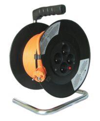 MAGG PB09 Kabel 20m na cívce 4x zásuvka 3x1,5mm-Kabel 20m na cívce 4x zásuvka 3x1,5mm