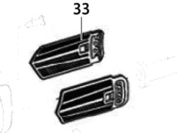 Filtrační vložka kapoty (2ks) EBU 115-6/ 125-6 NAREX 65404325