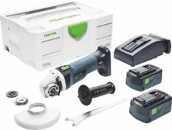 FESTOOL 575344 Aku bruska úhlová 125mm 18V 5,2Ah AGC 18-125 Li 5,2 EB-Plus - Aku bruska úhlová 125mm 18V 5,2Ah