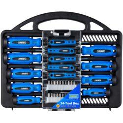 NAREX 65405489 Sada šroubováků s nástavci 34dílná 34-TOOL Box-34-dílná sada klasických CrV ručních šroubováků v závěsném organizéru.
