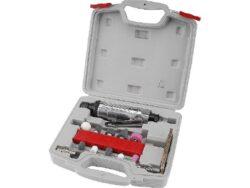 EXTOL 8865002 Bruska přímá pneu v kufru s nástavci-Bruska přímá pneu v kufru s nástavci